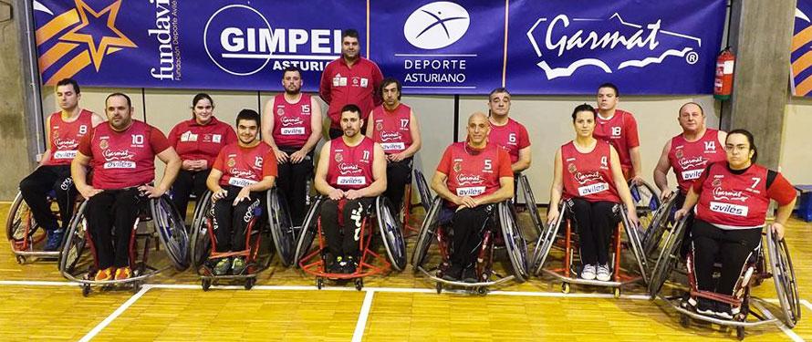 Equipo de baloncesto en silla de ruedas Garmat