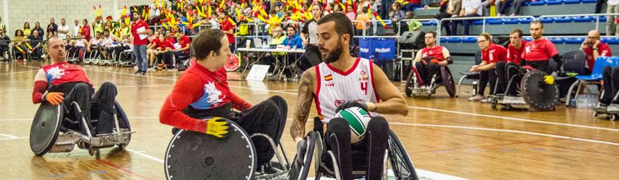 Campeonato de Europa C de rugby en sillda de ruedas.