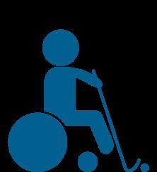 Hockey en silla de ruedas eléctrica
