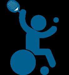 Padel en silla de ruedas