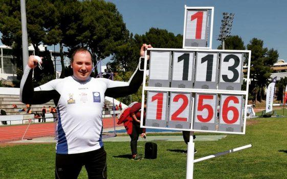 David Fernández muestra su récord de españa