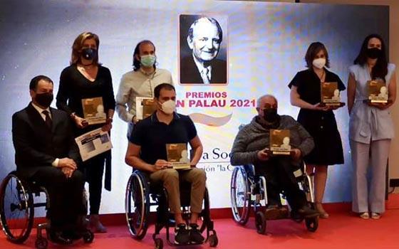 Foto de familia de los premios Juan Palau 2021